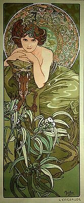 """Gobelin Tapestry Needlepoint Kit """"Emerald"""" hand embroidery printed canvas 617"""