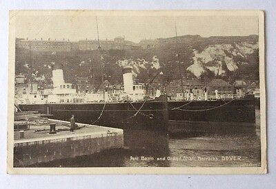 Postcard - DOVER - Pent Basin and Grand Shaft Barracks  - RP - Dated 1904