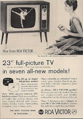 RCA Victor Benfield with Wireless Remote Control Vintage Ad 1960
