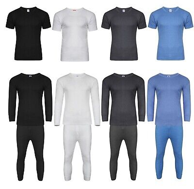 JOB LOT PACK OF 6 Mens Thermal Long Johns Short Sleeve T-Shirts Warm Underwear