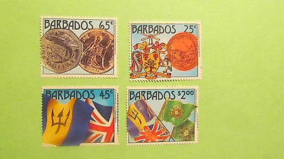 Barbados postage stamps 21th Annvi of Indepentance