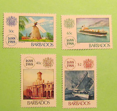 Barbados postage stamps Lloyds of London 1688-1988
