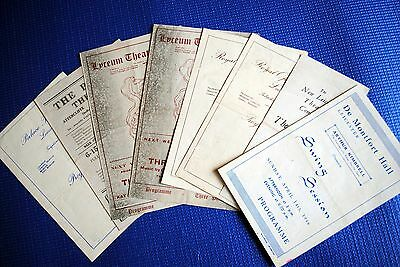 Small collection of orig. mid-1940s theatre programmes, Leicester and Sheffield.