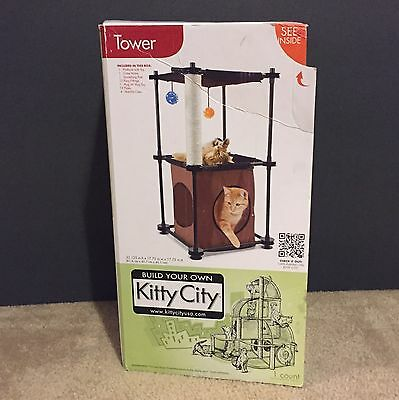 Kitty City Tower Cat House Condo Furniture Scratching Post Scratcher Toy Pet