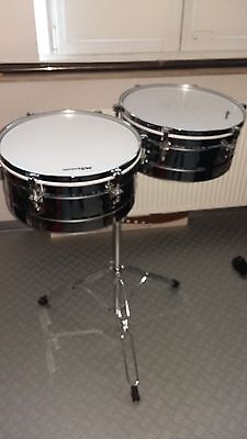 "Timbales set 14"" and 15"" double braced stand"