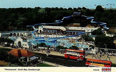 RV031 Old-fashioned-sized 1970s POSTCARD Theme Park - North Bay - Scarborough