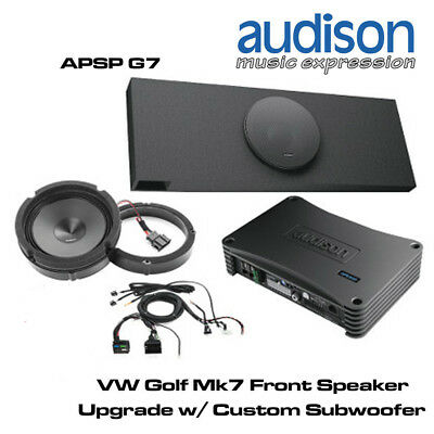 vw golf mk7 12 sound upgrade speaker sub box 10 stealth. Black Bedroom Furniture Sets. Home Design Ideas