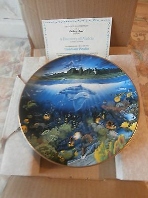 Danbury Mint Underwater Paradise  Discovery Off Anahola    New In Box & Cert
