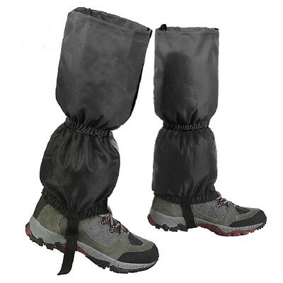 Waterproof Walking Gators Boot Hiking Climbing Leggings Trekking Gaiters Black