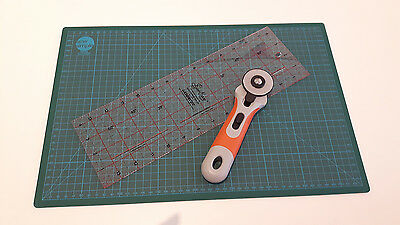 Quilting / Sewing Set - Cutting Mat, Acrylic Ruler and Rotary Cutter