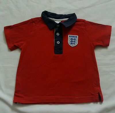 Baby boy/girl england polo shirt  12/18months  used
