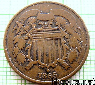 United States 1865 Two Cents Union Shield