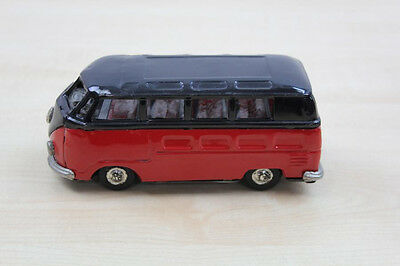 TIN TOY, JAPAN, BANDAI  VW BUS, rot/schwarz