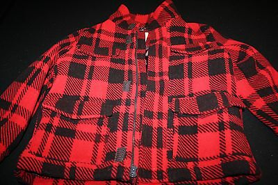 Boy's Red & Black Flannel Jacket by Old Navy Size S 6-7