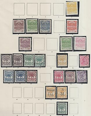 Samoa On 4 Pages Form Old Time Collection