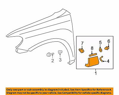 TOYOTA OEM 11-13 Highlander Fender-Molding Assy Right 756010E040