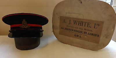 Original Military WW1 / 2 Officers Honourable Artillery Company Peaked Cap (1963