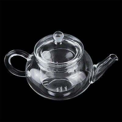 Heat Resistan Glass Teapot With Infuser Coffee Tea Leaf Herbal Pot 250ml WS