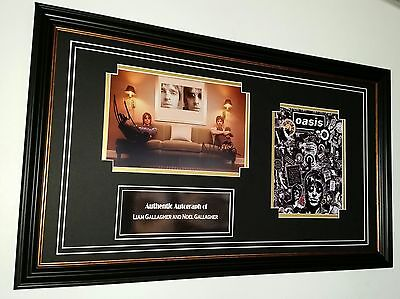 ** RARE OASIS Liam Gallagher and Noel Gallagher Signed Photo Picture  **