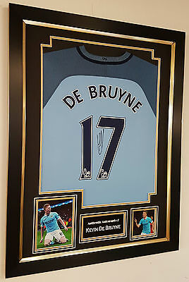 ** NEW Kevin De Bruyne of Manchester City Signed Shirt Autograph Display ***