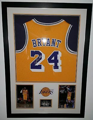 ** Rare KOBE BRYANT Signed Shirt JERSEY Autograph DISPLAY LA LAKERS **