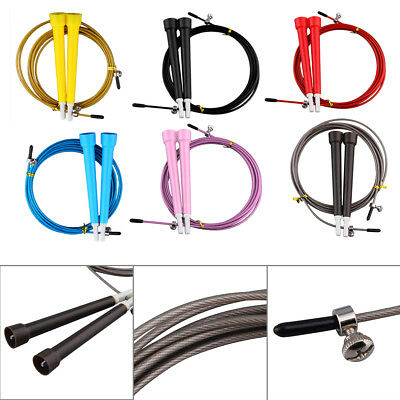 !Cable Steel Jump Skipping Jumping Speed Fitness Rope Cross Fit MMA Boxing!