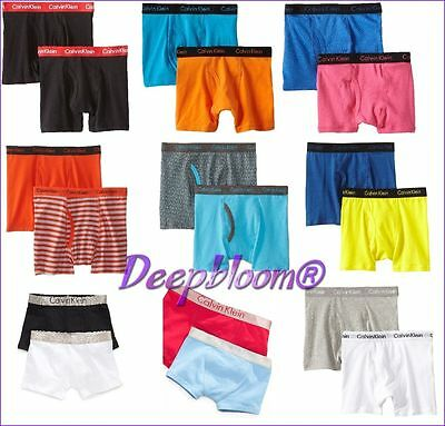 Calvin Klein Boys Kids Boxers Briefs Various Size For 6To 18 Years Free Postage