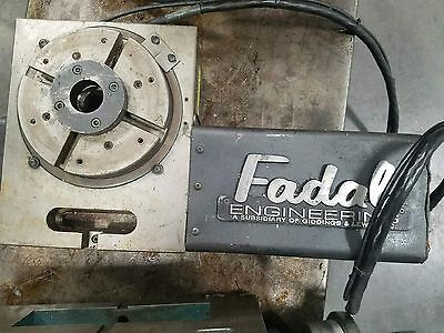 "FADAL VH65 4th AXIS CNC HORIZONTAL / VERTICAL ROTARY TABLE W/ 8"" CHUCK"