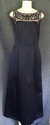 Alex Evenings Formal Style Sleeveless Dress With Illusion Detailed Neck/Back Sz6