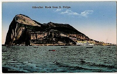 ROCK FROM S. FELIPE, GIBRALTAR ~ AN OLD POSTCARD  (Ab5)