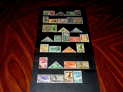 Liberia stamps for sale - 31 mint hinged and used very early stamps - super !!