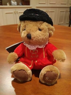 "Harrod's Beefeater 6"" Stuffed Bear  Pristine!  New with Tags!   FREE S&H w/BIN!"
