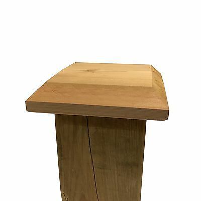 """Flat Top Cedar Wood Post Cap / Finial Base, for 6"""" x 6"""" Fence and Deck Posts"""