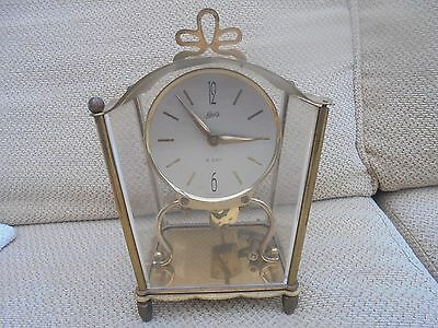 Antique German brass unusual mantel clock by Schaty