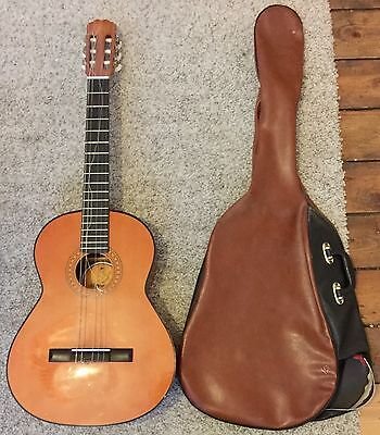 Almeria BM Acoustic Classical Guitar Bundled With Case (Free UK Post)