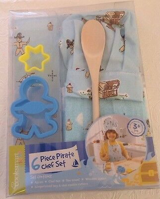 New Boxed : Cooksmart Kids 6 Piece Pirate CHEF Set. See Photos.