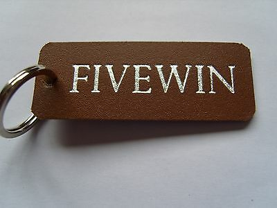 Bryans Fivewin Leather Keyring Fob