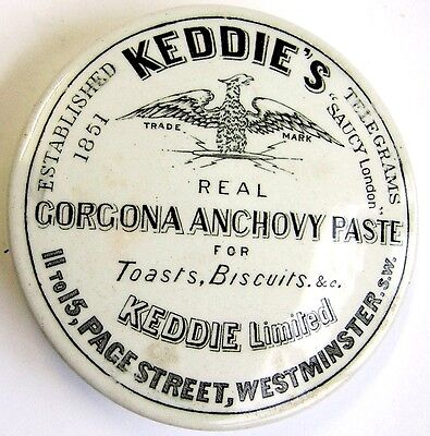 Victorian Keddie's Pot Lid.  Page Street Westminster London. EXCELLENT CONDITION