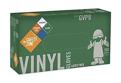 Disposable Vinyl Gloves - Powder Free Clear Latex Free and Allergy Free New