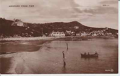 Early Postcard -Kippford - From The Pier - Scotland   -Real Photo