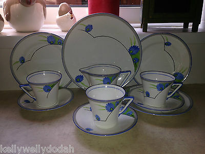 CWS WIndsor China 1930s Art Deco Tea Service