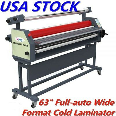 """63"""" Full-auto Heat Assisted Cold Laminator Wide Format Roll Laminator US Stock"""