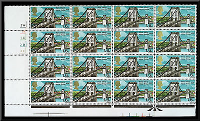 16 GB QEII Pre-Decimal 1s 6d (1/6) Stamps re 1968 British Bridges Set.  SG 765.