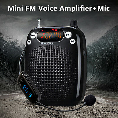 FM Stereo Radio Portable Loud Voice Booster Amplifier AMP Speaker for Coachers