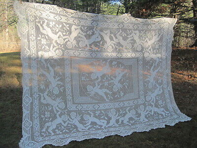 Huge Spectacular Vintage TableCover Made in Italy-New Never Used~9' x 6'~Cherubs