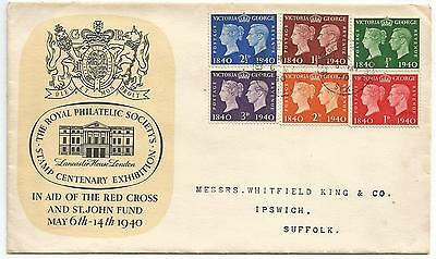 First Day Cover of the GB Centenary of the First Postage Stamp 6th May 1940
