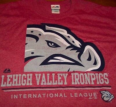 LEHIGH VALLEY IRON PIGS MINOR LEAGUE BASEBALL T-Shirt LARGE NEW PHILLIES