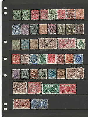 43 George V Stamps Great Britain