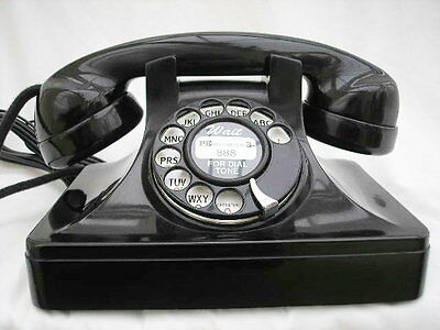 1940s ART DECO TELEPHONE AMERICAN FULLY RESTORED RARE AND BT CONVERTED