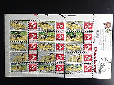 Planche de Timbres Duostamp Tintin Tim Kuifje